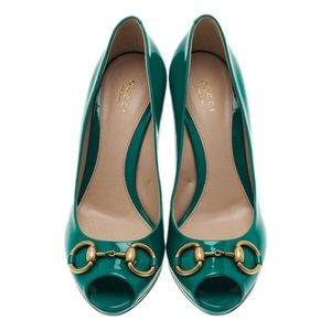 Gucci   Turquoise Leather New Hollywood Pump 👠⚡️